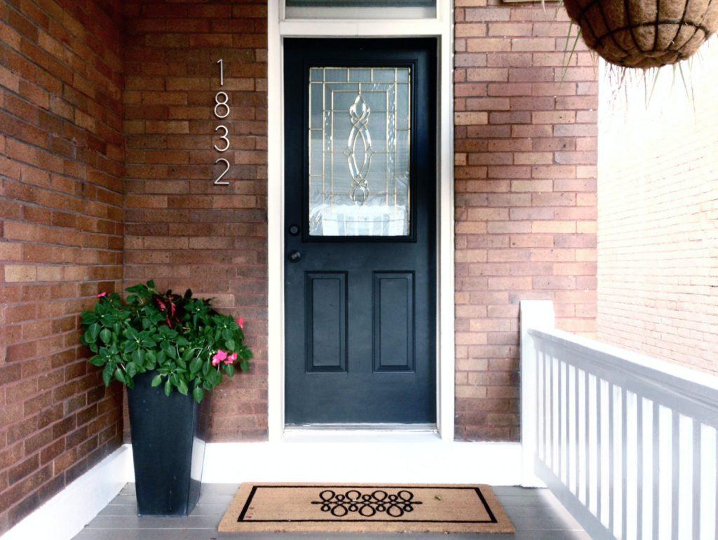 front door of house